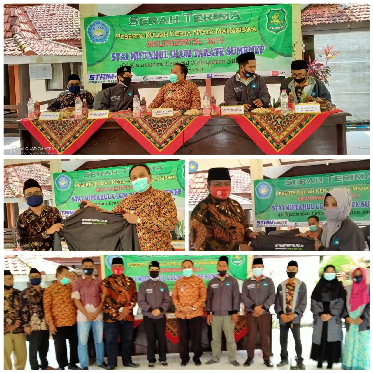 STAIM Tarate Sumenep Lakukan Serah Terima Peserta Kukerta 2021 di Kecamatan Lenteng