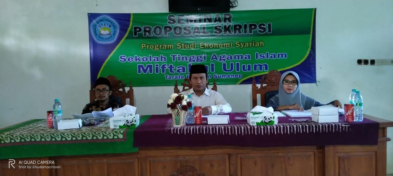 Prodi Ekonomi Syariah - Seminar Proposal Skripsi