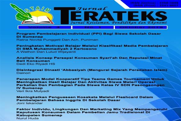 Jurnal Terateks Volume 04 No. 1 Oktober (2019)