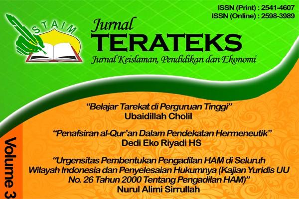 Jurnal Terateks Volume  3 No 1 Oktober (2018)