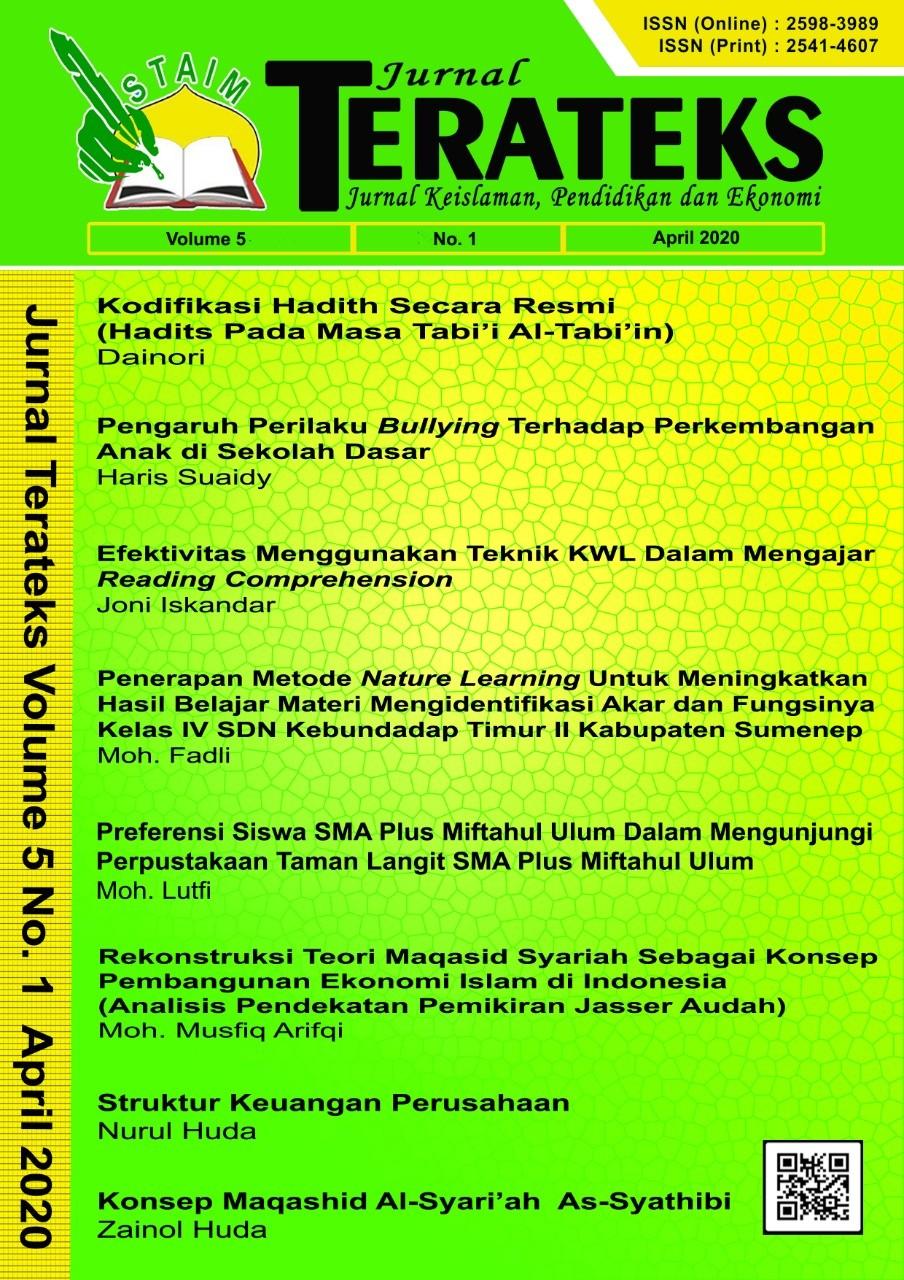 Jurnal Terateks Volume 05 No. 1 April 2020