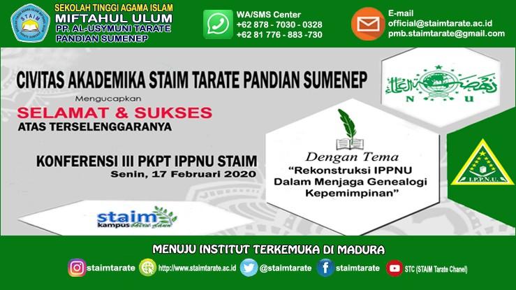 Konferensi III PKPT IPPNU STAIM Tarate Pandian Sumenep
