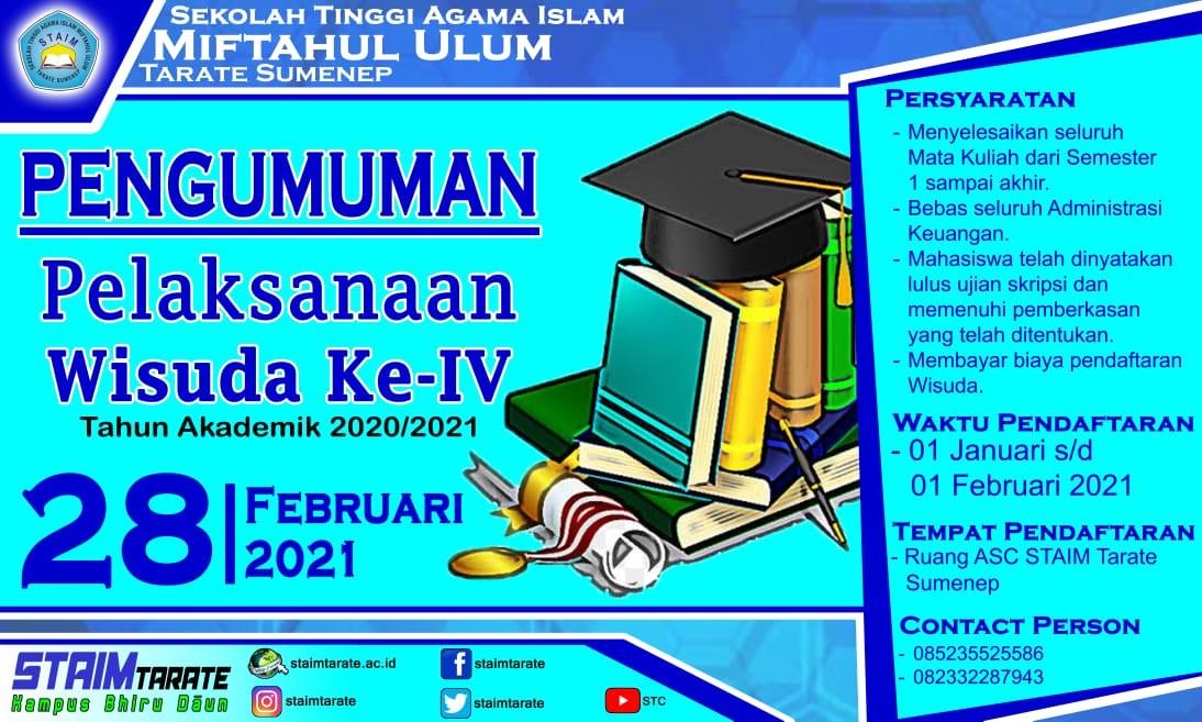 Informasi Wisuda S1 Periode IV TA. 2021-2022