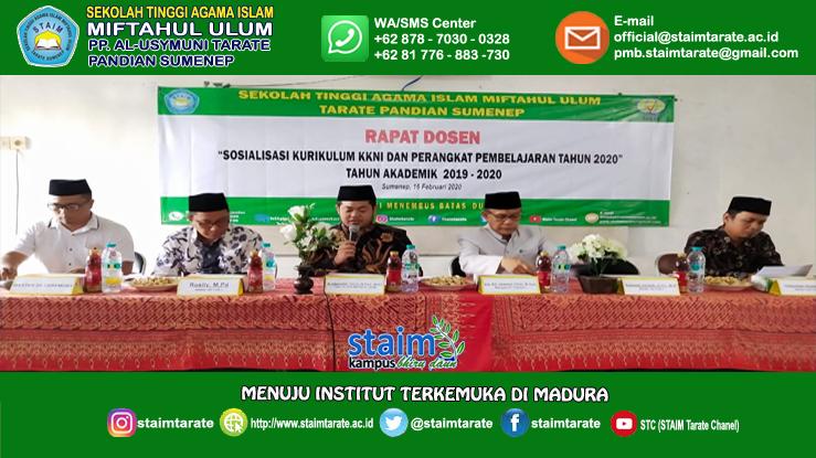 Rapat Dosen Sosialisasi KKNI &  Penyusunan RPS Semester Genap TA. 2019-2020